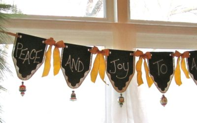 Chalk Cloth Banners – Bowed and Bangled