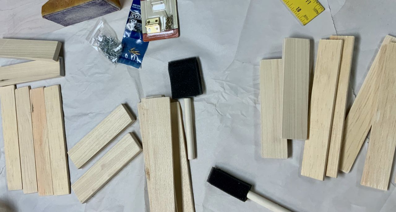 piles of wood pieces cut and sanded