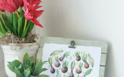 Make a Display Easel For Seasonal Printables